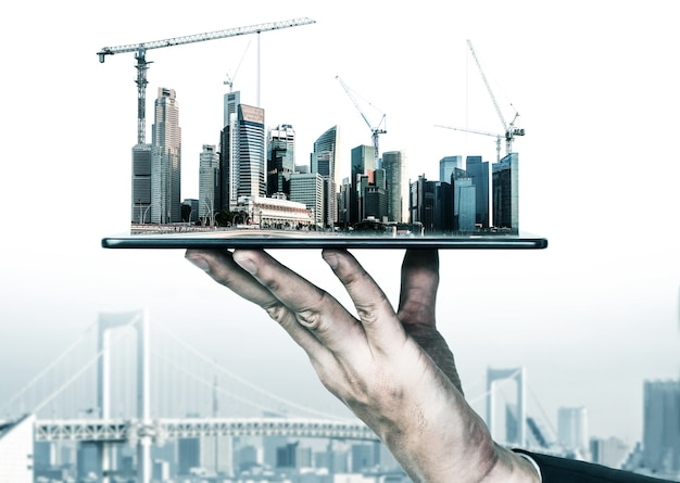 Innovatives architektur- und tiefbauprojekt.