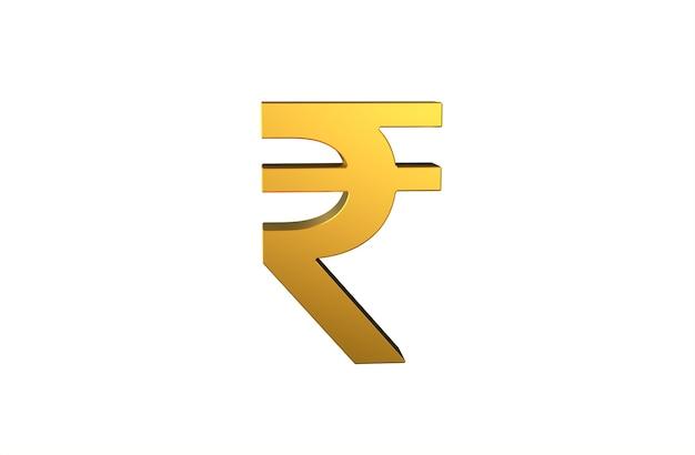 Inr-indische rupie-währungssymbol in 3d