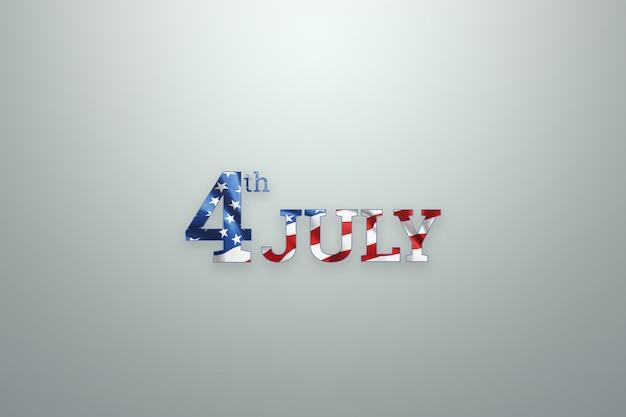 Inschrift 4. juli auf hölzernen hintergrund für usa independence day