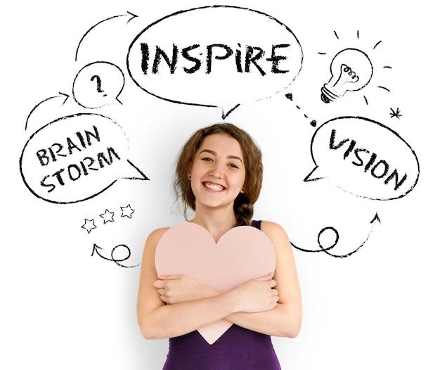Inspiration kreative ideen brainstorming-konzept