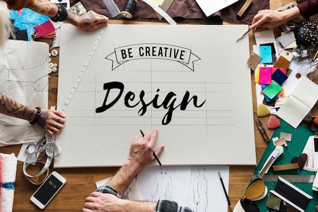 Inspirationsideen entwerfen kreatives denkendes wort