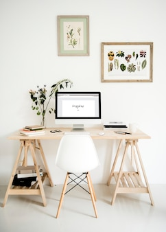 Inspirationswort auf dem computerbildschirm