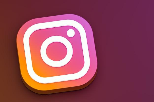 Instagram 3d logo