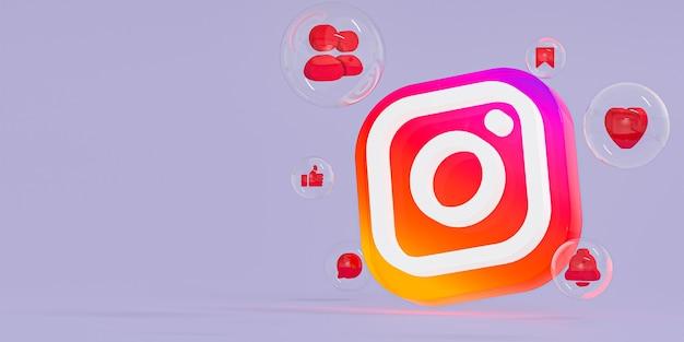 Instagram acrylglas ig logo und social media icons mit kopierraum