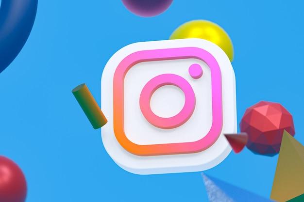 Instagram ig logo mit geometrieelementen