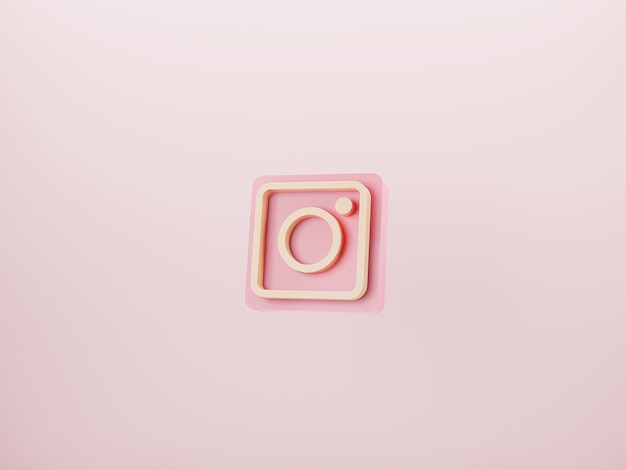 Instagram-logo auf rosa hintergrund