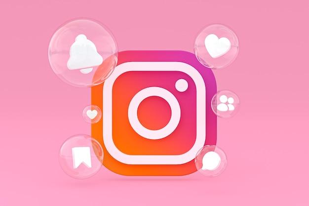 Instagram-symbole 3d-rendering