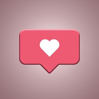 Instagram wie benachrichtigungssymbol 3d