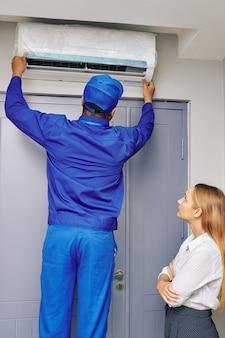 Installation der klimaanlage