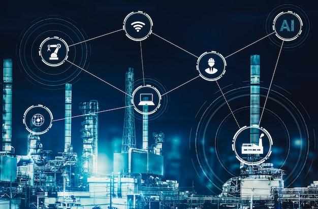 Intelligente fabrik für die vierte industrielle revolution