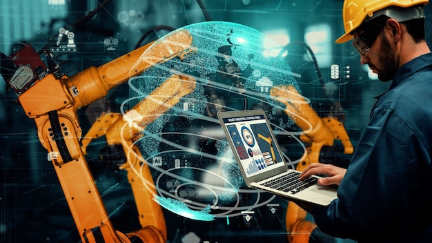 Intelligente modernisierung von industrieroboterarmen für die digitale werkstechnologie