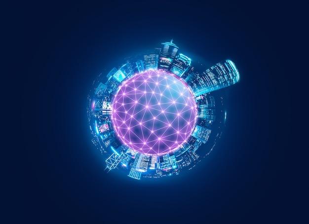 Intelligente netzwerk- und verbindungsstadt von hong kong