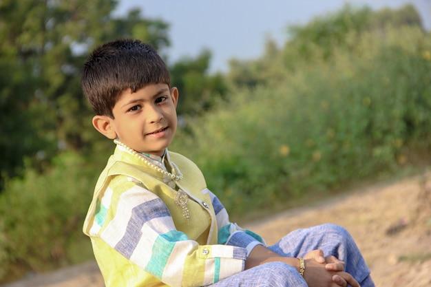 Intelligentes indisches kind