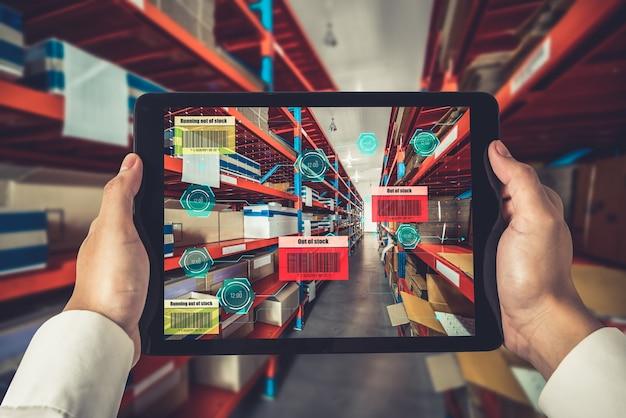Intelligentes lagerverwaltungssystem mit augmented reality-technologie