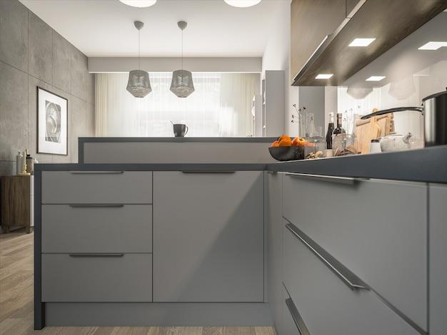 Interieur der modernen küche