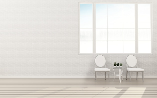 Interieur mit stühlen premium photo