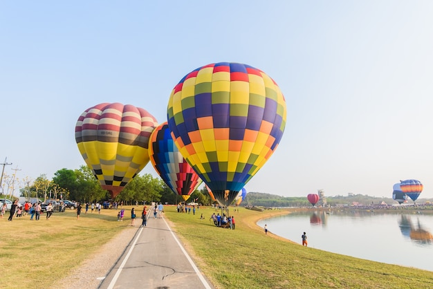 Internationale ballon-fiesta in singha-park, chiangrai, thailand