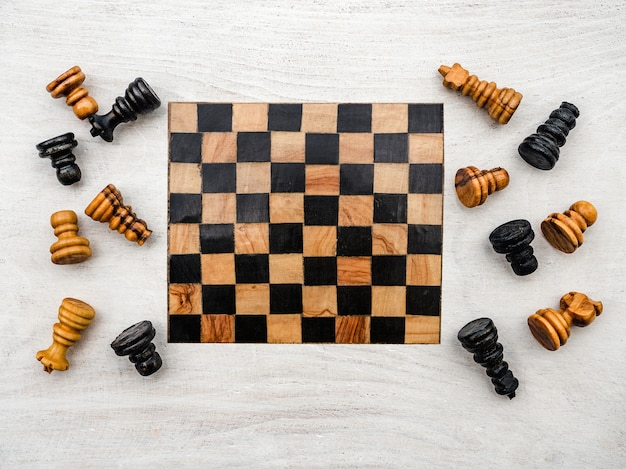 Internationaler schachtag. schöne karte. nahansicht