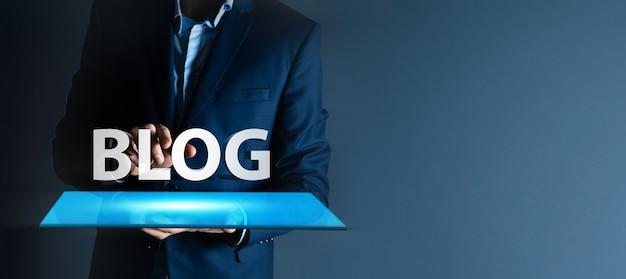 Internet-blog und blogging-konzept 3d-illustration