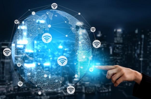 Internet der dinge und kommunikationstechnologie