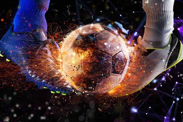 Internet-live-streaming eines fußballspiels