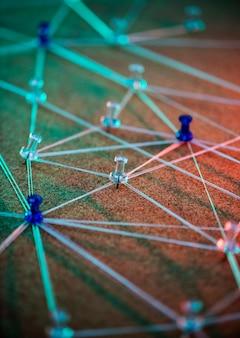 Internet-netzwerk-verbindungssystem simuliert