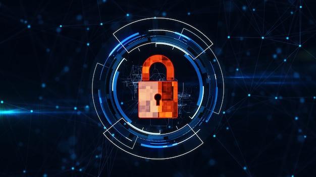 Internet-technologie-netzwerk und cybersicherheitskonzept