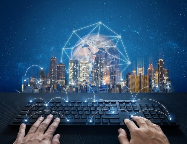 Internet-vernetzung, computernetzwerk