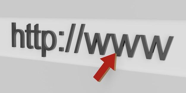 Internet-webadresse http www in der suchleiste des browsers