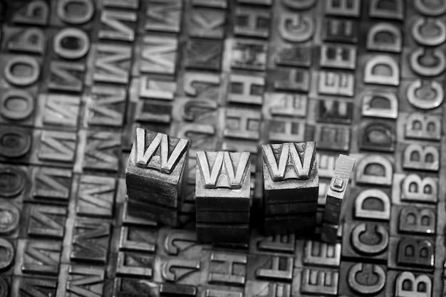 Internet www website von letterpress