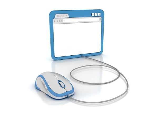 Internetbrowser mit computermaus