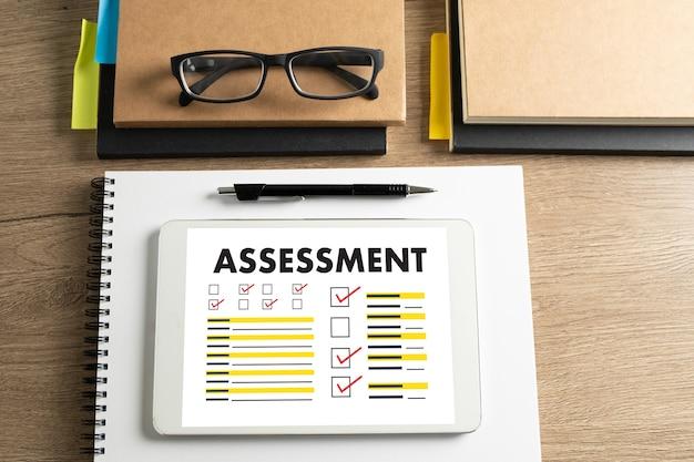 Interviewbewertung und brille
