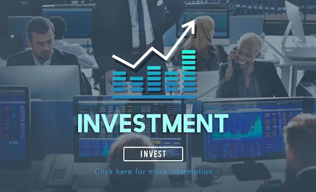 Investieren sie investitionen finanzeinkommen gewinn kosten konzept