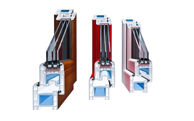 Inzisions-pvc-profilfenster mit dreifachverglasung