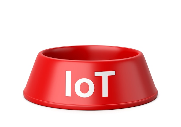 Iot pets bowl isoliert