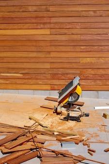 Ipe holzzaun installation tischler tischsäge