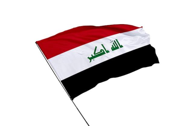 Irak-flagge auf weißem hintergrund