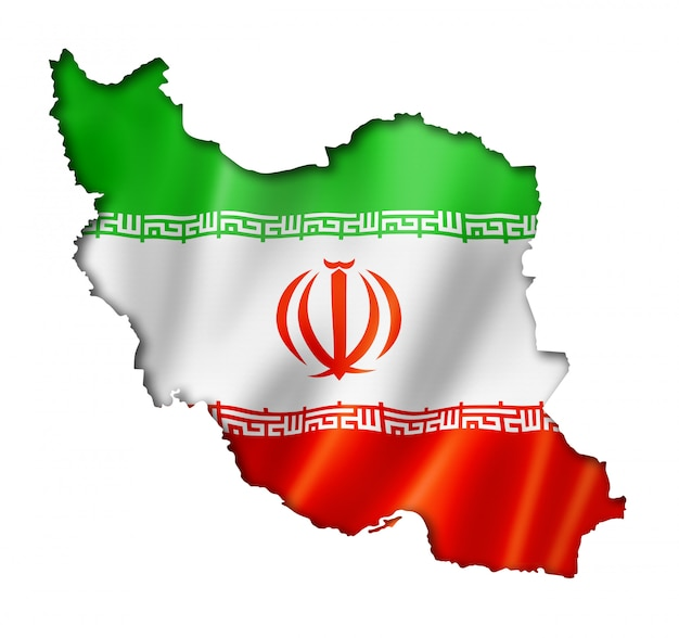 Iranische flagge karte