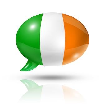 Irische flagge sprechblase