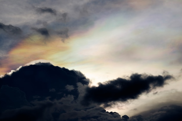 Irisierende wolke, irisierung
