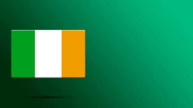 Irland flagge auf realistischer plattform