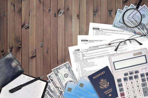 Irs-formular 1120 us corporation einkommensteuererklärung