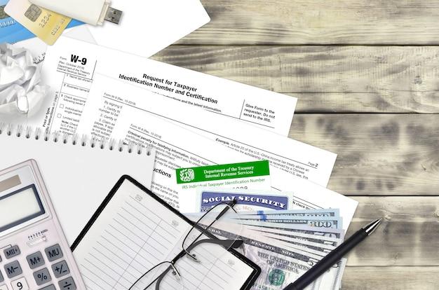 Irs-formular w-9 antrag auf steueridentifikationsnummer und zertifizierung