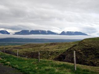 Isländische landschaft, feld