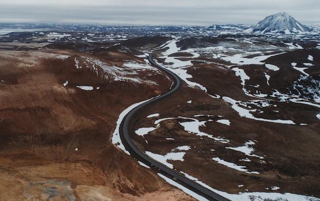 Isländische panoramen, luftaufnahme des landes