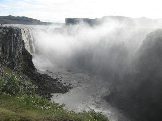 Isländische wasserfall, natur
