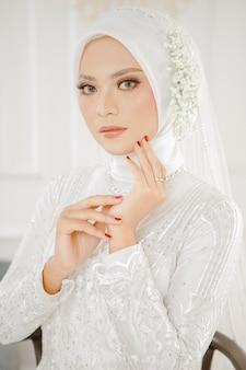 Islamische muslimische frau hijab