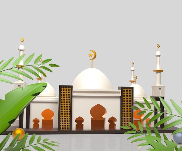 Islamischer hintergrund des ramadan kareem mit moschee