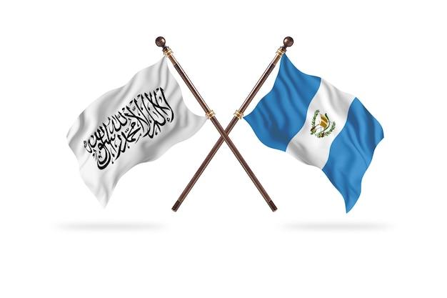 Islamisches emirat afghanistan gegen guatemala zwei flaggen hintergrund