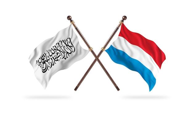Islamisches emirat afghanistan gegen luxemburg zwei flaggen hintergrund